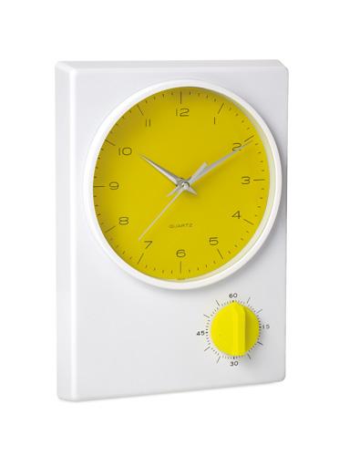Tekel žluté stolní hodiny
