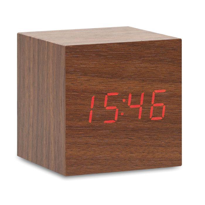 LED hodiny z MDF