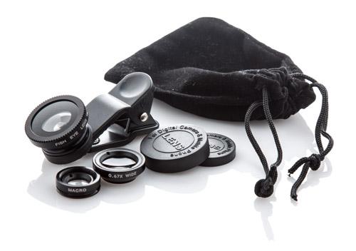 Optix černé speciální čočky na smartphone
