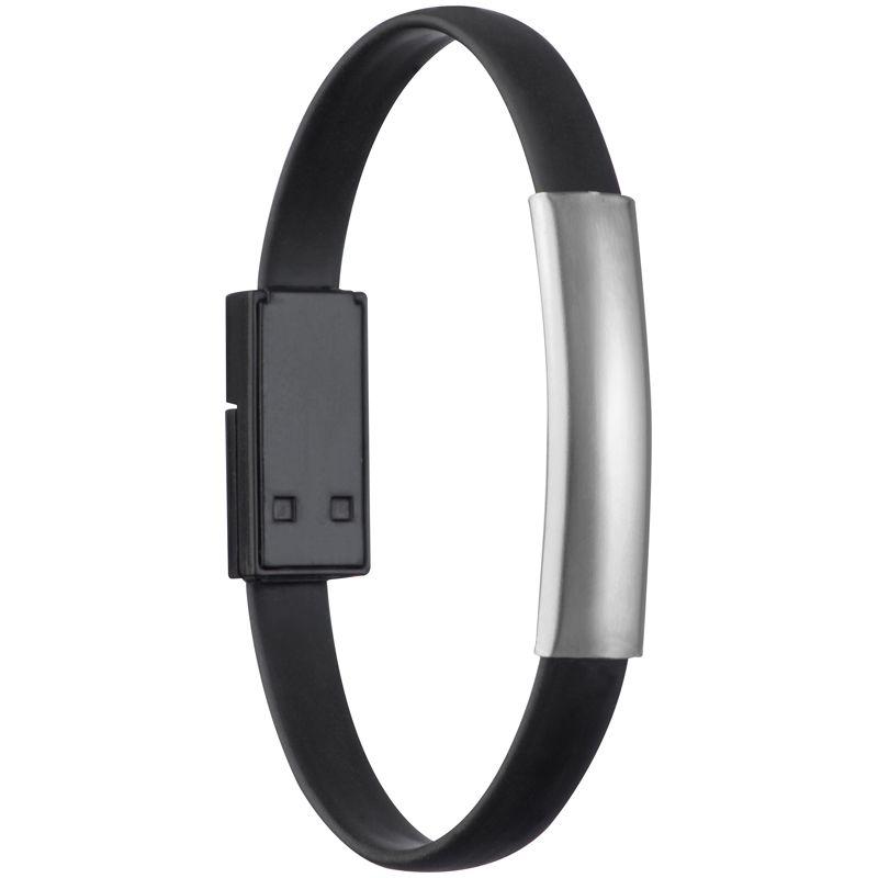 Náramek USB/ micro USB černý s potiskem