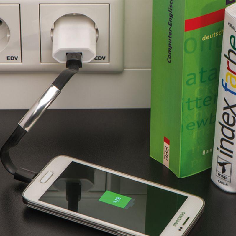 Náramek USB/ micro USB černý