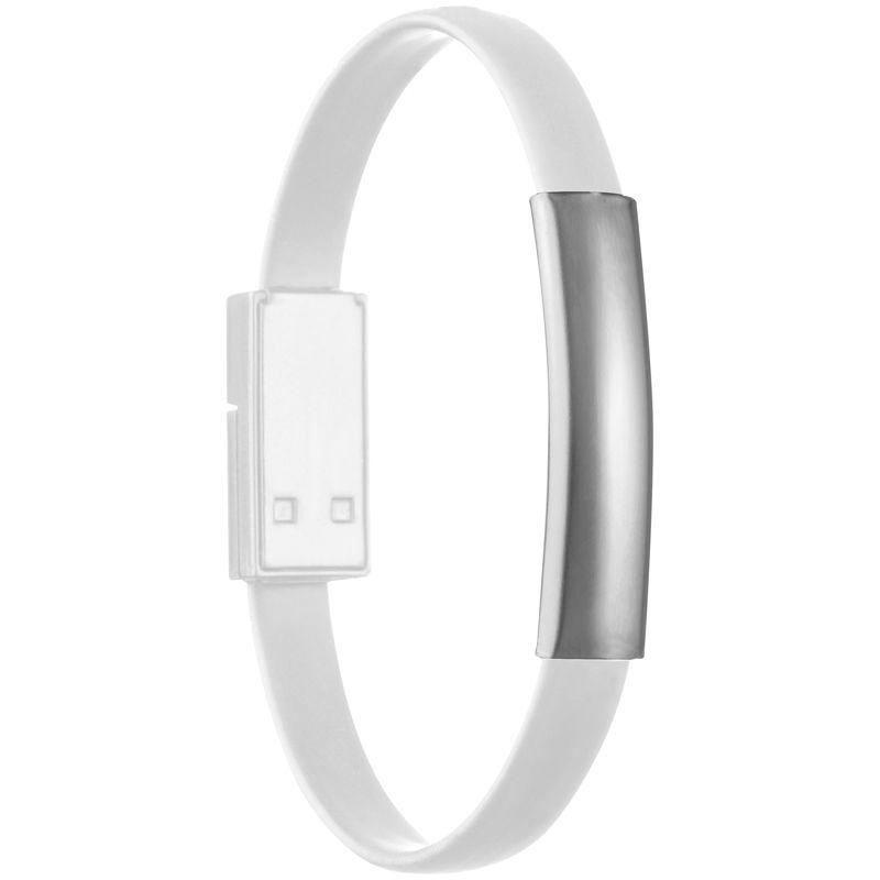 Náramek USB/ micro USB bílý