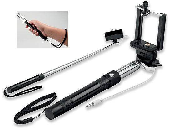 SELFIE teleskopická selfie tyč z plastu a kovu, černá