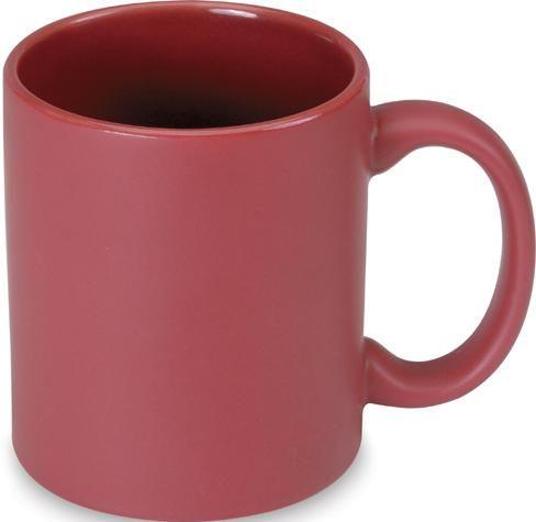 Červený keramický hrnek