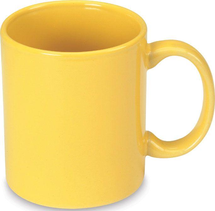 Žlutý keramický hrnek