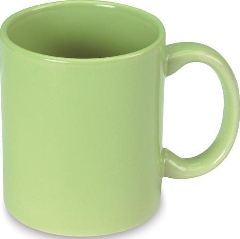 Zelený keramický hrnek