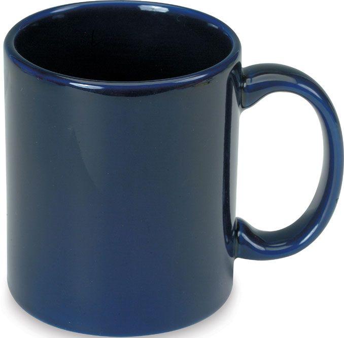 Tm. modrý keramický hrnek