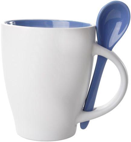 Modrý hrnek s lžičkou - 300 ml