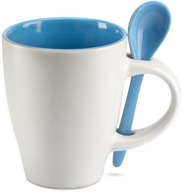Modrý šálek se lžičkou