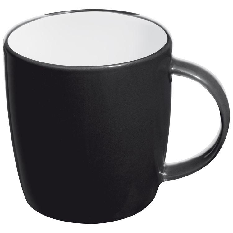 Černý keramický hrnek, 0,3 l