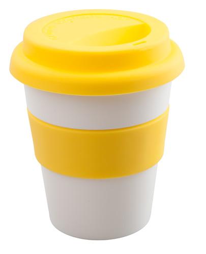 Ralcon žlutý hrnek se silikonem