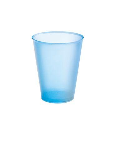 Modrý plastový kelímek