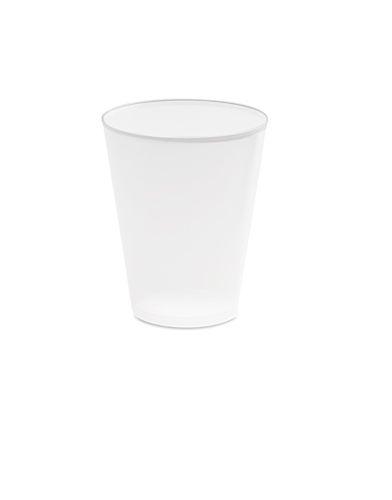 Bílý plastový kelímek