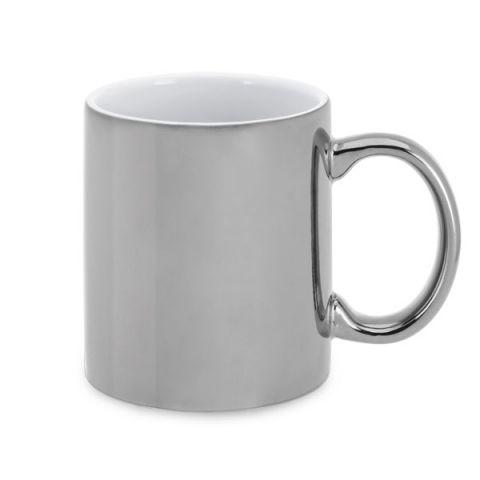 Keramický hrnek stříbrný