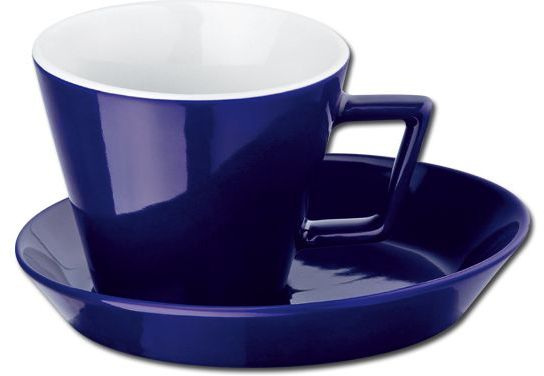 CLAUDE keramický šálek s podšálkem, 150 ml, tmavě modrá