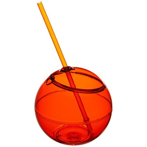 Koule se slámkou Fiesta oranžová