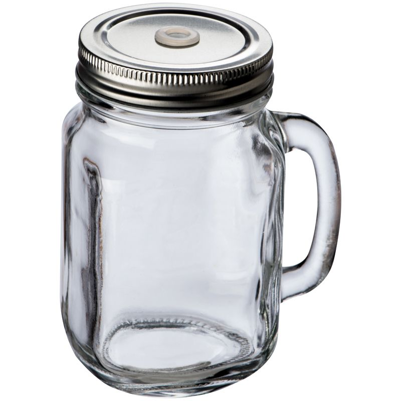 Klasická sklenice s kovovým vrškem