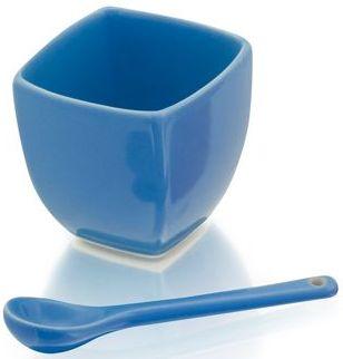 Modrá miska se lžičkou