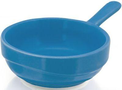 Modrá miska na olivy