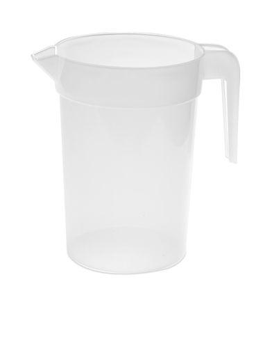 Bílý plastový džbán s potiskem