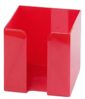 Červený zásobník na papírky velký