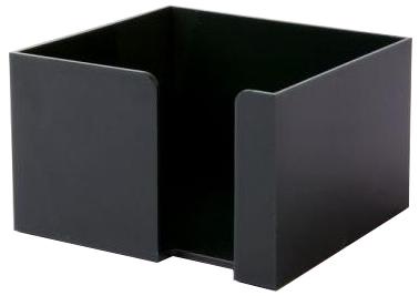 Černý zásobník na papírky