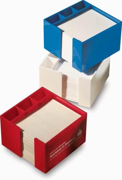 Modrý zásobník na papíry