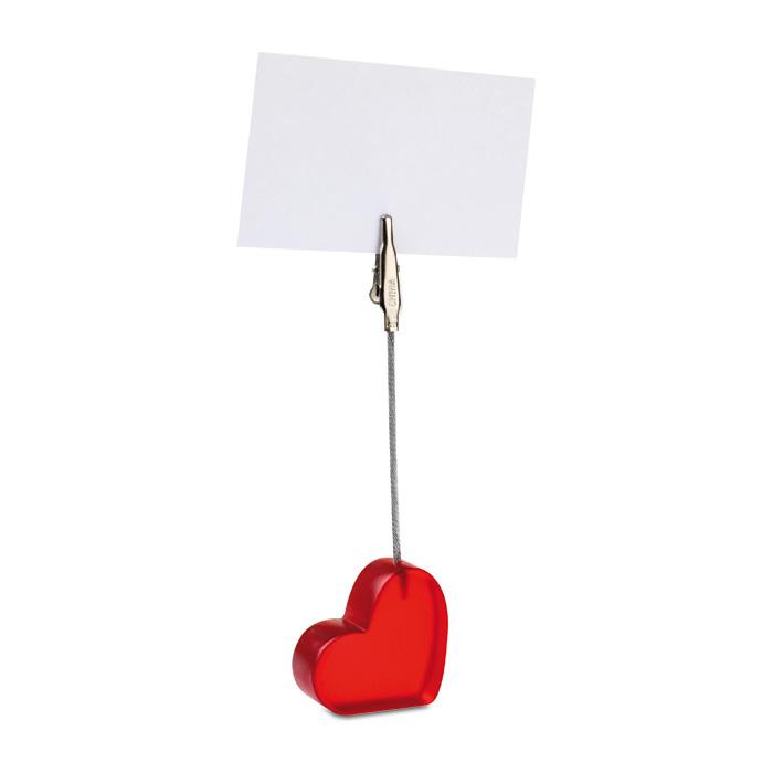 Klip ve tvaru srdce z transparentního plastu