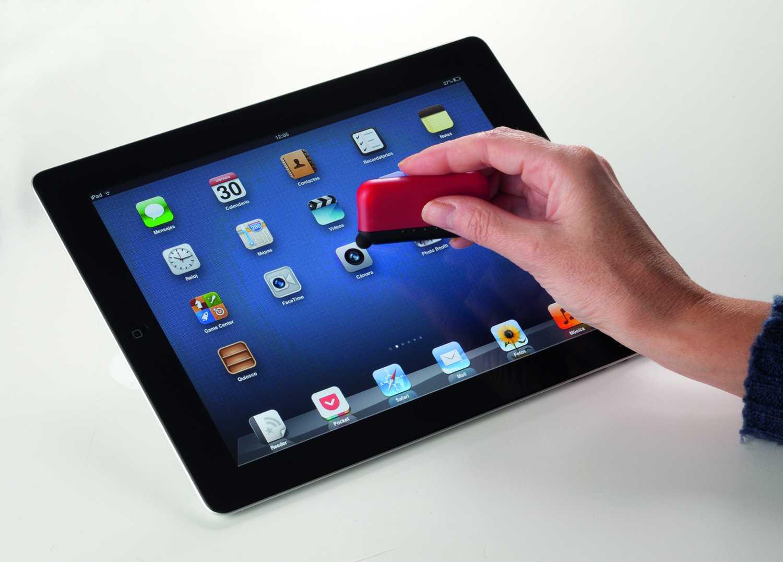 Lyptus červené čistítko na obrazovky s dotykovým koncem