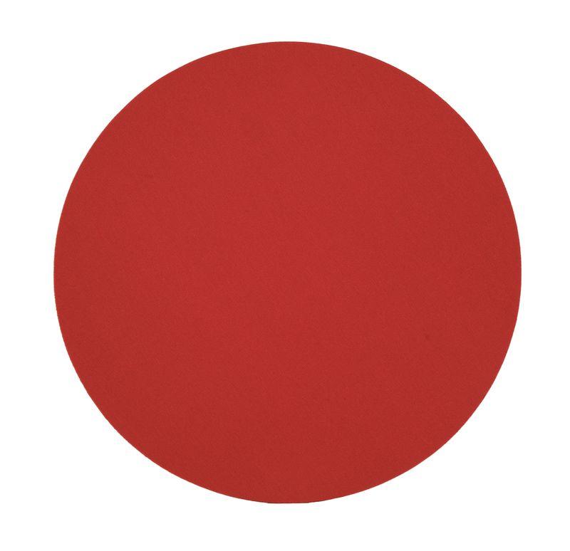 Kulatá podložka pod myš červená