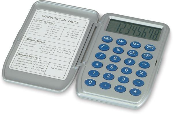 Kalkulátor s konverzní tabulkou