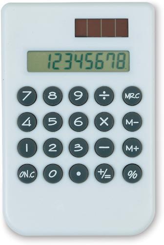 Bílý solární kalkulátor