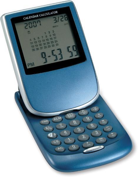 Modrý multifunkční obdélníkový kalkulátor