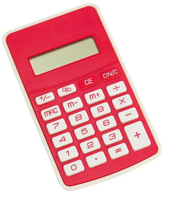 Result červená kalkulačka