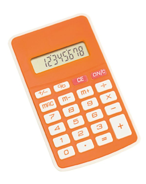 Result oranžová kalkulačka