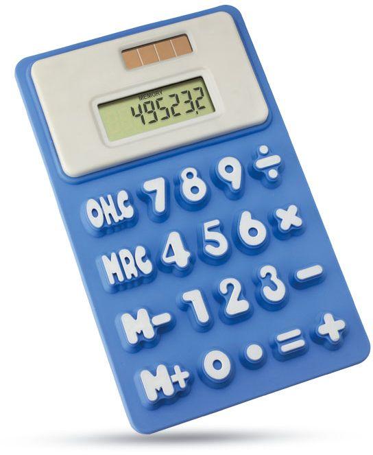 Modrá solární kalkulačka