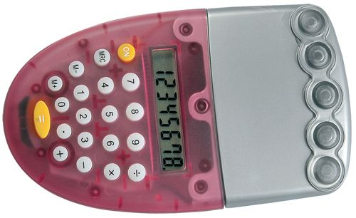 Kalkulačka na vodu červená