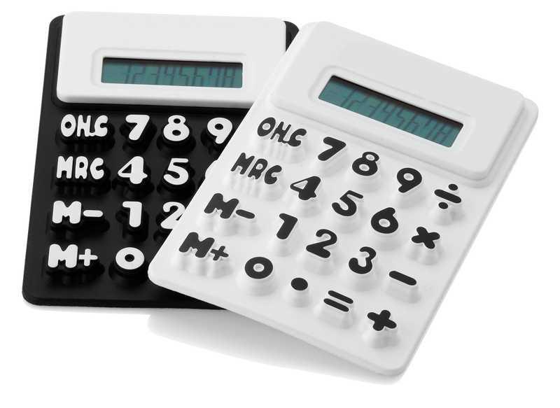 Flex černý kalkulátor