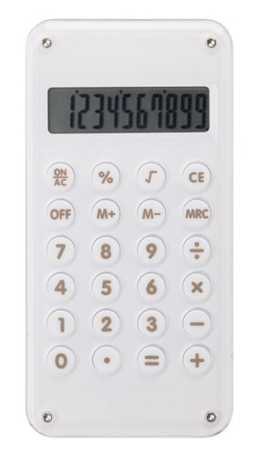 Davos bílá kalkulačka