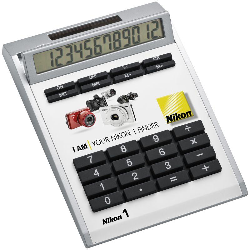 Kalkulačka ve vlastním designu s vložkami bez dírek, malá