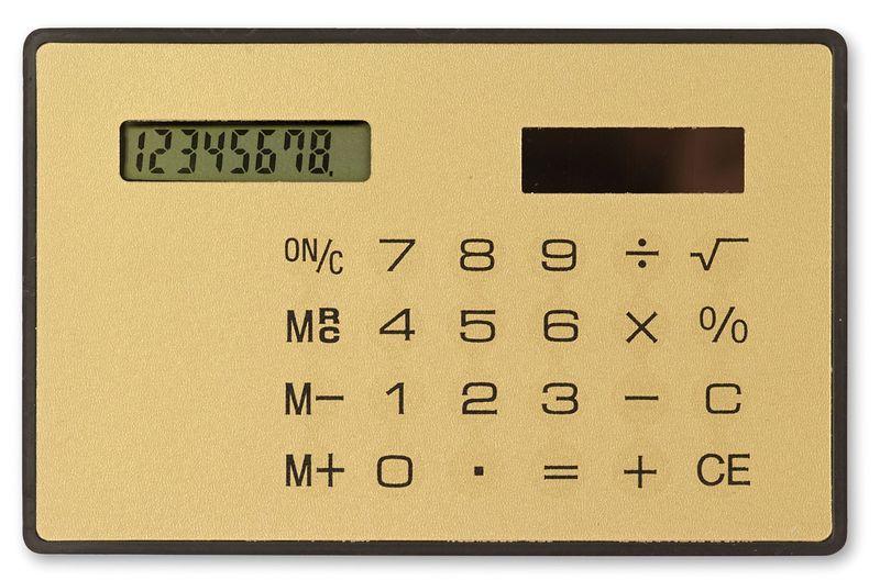 Solární tenká kalkulačka