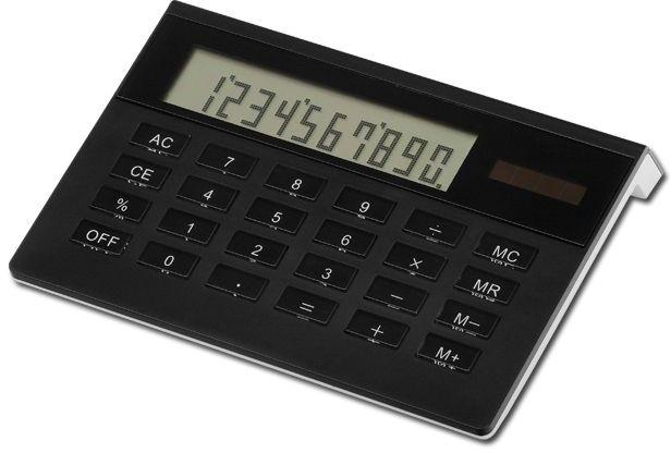 LUSETTE duální kalkulačka s 10místným displejem, černá