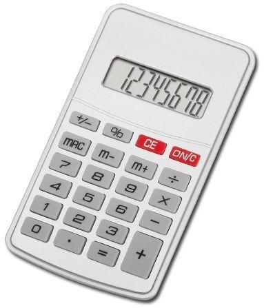 JASPER kalkulačka s 8místným displejem, stříbrná