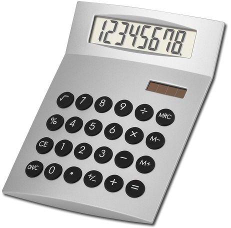 JETHRO duální kalkulačka s 8místným displejem, stříbrná