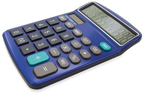 Profesionální kalkulačka, modrá