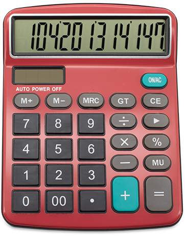 Profesionální kalkulačka, červená