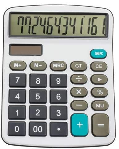 Profesionální kalkulačka, bílá