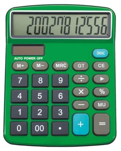 Profesionální kalkulačka, zelená