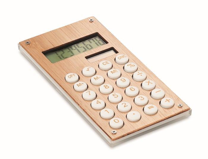CALCUBAM 8 místná bambusová kalkulačka