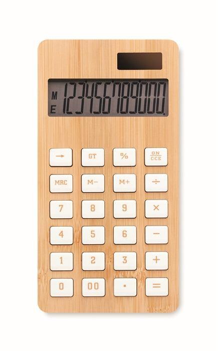 CALCUBIM 12 místná bambusová kalkulačka